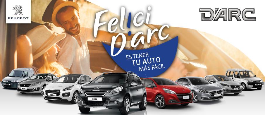 Darc Peugeot - Felicidarc es tener tu auto en cuotas
